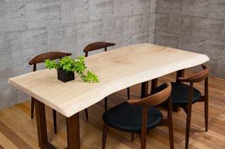 タモ 一枚板テーブル   長さ1790mm       商品番号(T-tam001)