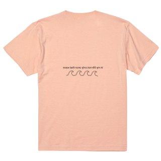 WAVE LOGO TEE apricot pink