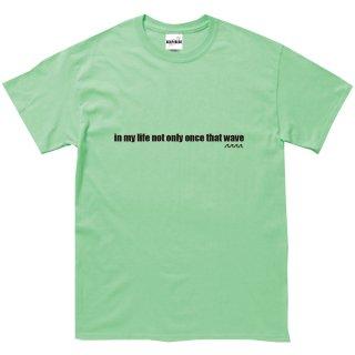 WAVE LOGO Tee  mint-green