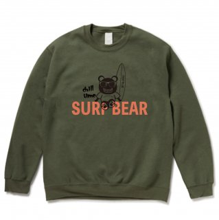 <img class='new_mark_img1' src='https://img.shop-pro.jp/img/new/icons15.gif' style='border:none;display:inline;margin:0px;padding:0px;width:auto;' />『chill time』SURF BEAR SWEAT KHAKI