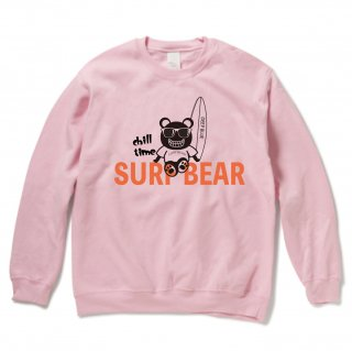 <img class='new_mark_img1' src='https://img.shop-pro.jp/img/new/icons15.gif' style='border:none;display:inline;margin:0px;padding:0px;width:auto;' />『chill time』SURF BEAR SWEAT LIGHT PINK