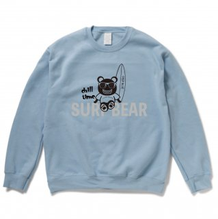 <img class='new_mark_img1' src='https://img.shop-pro.jp/img/new/icons15.gif' style='border:none;display:inline;margin:0px;padding:0px;width:auto;' />『chill time』SURF BEAR SWEAT LIGHT BLUE