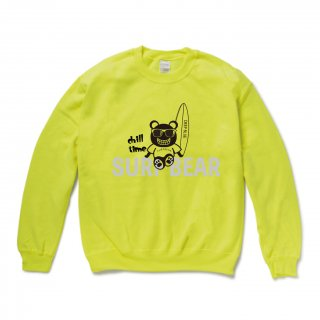 <img class='new_mark_img1' src='https://img.shop-pro.jp/img/new/icons15.gif' style='border:none;display:inline;margin:0px;padding:0px;width:auto;' />『chill time』SURF BEAR SWEAT YELLOW GREEN