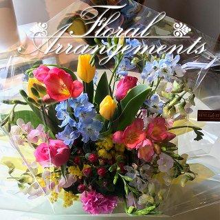 お花のアレンジメント 花束 35束 フラワーギフト フラワーアレンジメント プレゼント  お祝い 誕生日 記念日 母の日 結婚記念日 結婚祝い 退職祝い 定年 送別会 還暦 クリスマス 妻 両親