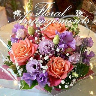 お花のアレンジメント 花束 40束 フラワーギフト フラワーアレンジメント プレゼント  お祝い 誕生日 記念日 母の日 結婚記念日 結婚祝い 退職祝い 定年 送別会 還暦 クリスマス 妻 両親