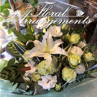 お花のアレンジメント 花束 80束 フラワーギフト フラワーアレンジメント プレゼント  お祝い 誕生日 記念日 母の日 結婚記念日 結婚祝い 退職祝い 定年 送別会 還暦 クリスマス 妻 両親