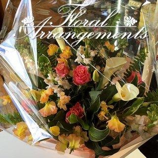 お花のアレンジメント 花束 100束 フラワーギフト フラワーアレンジメント プレゼント  お祝い 誕生日 記念日 母の日 結婚記念日 結婚祝い 退職祝い 定年 送別会 還暦 クリスマス 妻 両親