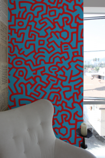 KEITH HARING Pattern Wall tiles(ウォールタイル)blue/red