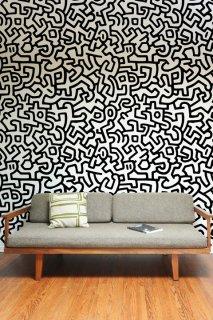 KEITH HARING Pattern Wall tiles(ウォールタイル)black