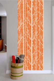 TREES Pattern Wall tiles(ウォールタイル)pumpkin