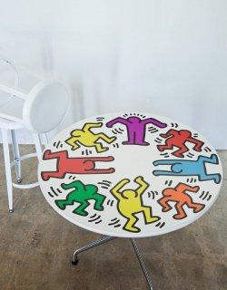 キースヘリング Rainbow Dancers surface skin テーブル用ステッカーLサイズ