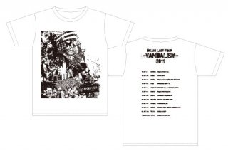 DELUHI LAST TOUR  -VANDALISM- 2011 復刻Tシャツ ホワイト