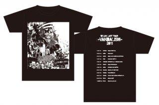 DELUHI LAST TOUR  -VANDALISM- 2011 復刻Tシャツ ブラック