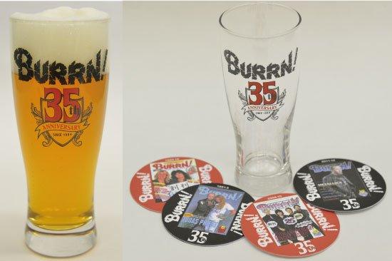 BURRN! 35th anniversary<br> ビアグラス(コースター付き)
