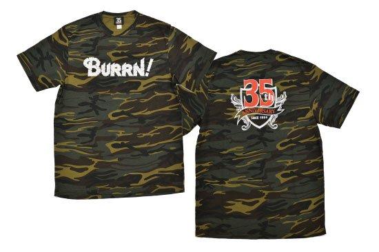 BURRN! 35th anniversary<br> Tシャツ CAMO GREEN