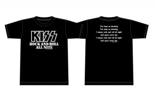 KISS 地獄の御言葉Tシャツ<br> 「ROCK AND ROLL ALL NITE」 <img class='new_mark_img2' src='https://img.shop-pro.jp/img/new/icons15.gif' style='border:none;display:inline;margin:0px;padding:0px;width:auto;' />