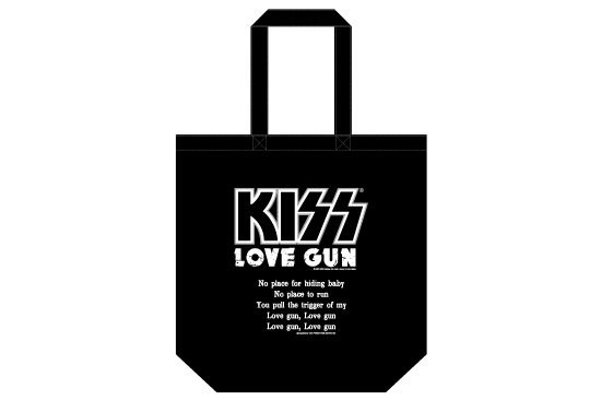 KISS 地獄の御言葉トートバッグ<br> 「LOVE GUN」 <img class='new_mark_img2' src='https://img.shop-pro.jp/img/new/icons15.gif' style='border:none;display:inline;margin:0px;padding:0px;width:auto;' />