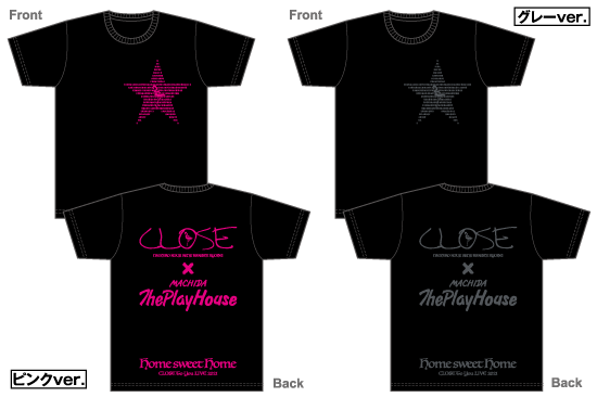 CLOSE<br>[Home sweet Home]Tシャツ<img class='new_mark_img2' src='https://img.shop-pro.jp/img/new/icons15.gif' style='border:none;display:inline;margin:0px;padding:0px;width:auto;' />