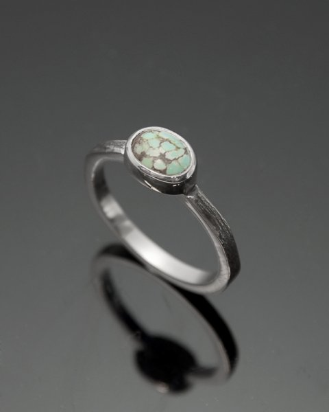 2019 SILVER PERSPIRATION<br>Turquoise silver ring LLR-007tq<br>