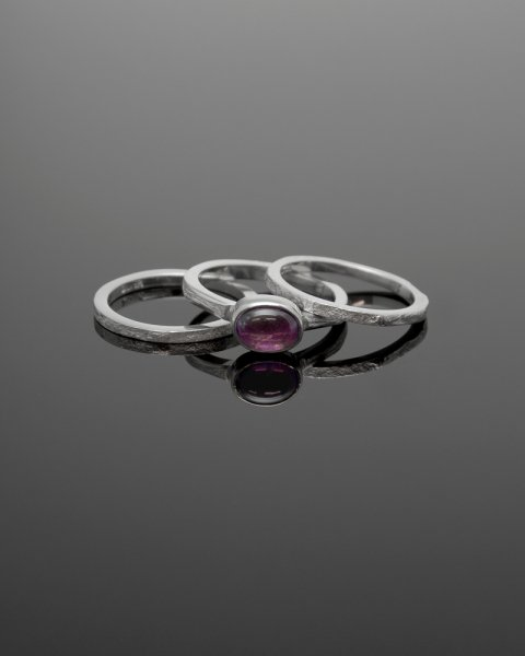 2019 SILVER PERSPIRATION<br>Amethyst  silver ring LLR-008am<br>