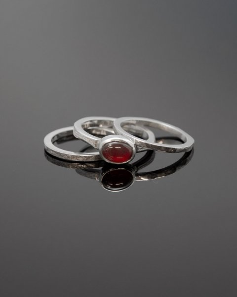 2019 SILVER PERSPIRATION<br>Cherry amber  silver ring LLR-008camb<br>