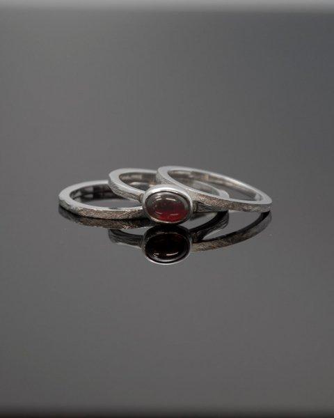 2019 SILVER PERSPIRATION<br>Garnet  silver ring LLR-008gn<br>