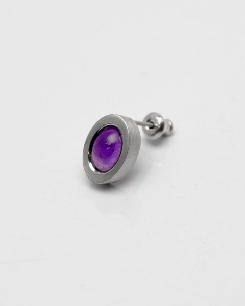 2019 irradiate<br>Amethyst silver pierce LLP-011AM<br>