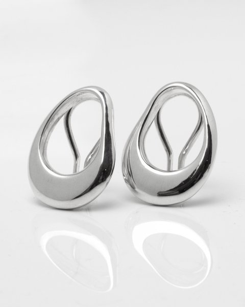 liquid oval S earring<br>