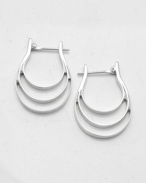INO. 2021 collection<br> silver hoop pierce INO-003<br>
