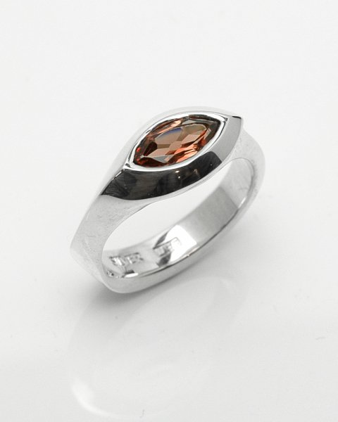4×8mm marquise facet cut Rhodolite garnet ring<br>