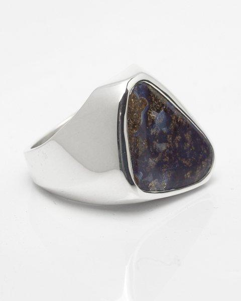 17×19mm fancy cut Boulder opal ring<br>