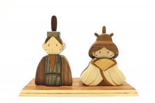 木製ひな人形Aセット