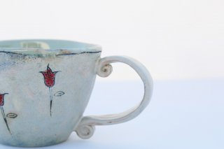陶製カップ<ミディーバルローズ>