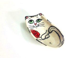 ネコのティーバッグソーサー