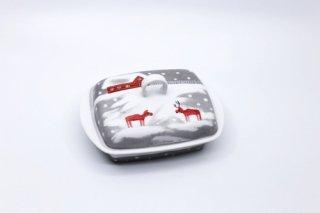 ヘリナ・ティルク・ウェア 赤トナカイシリーズ バターケース