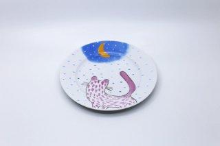 ヘリナ・ティルク・ウェア 猫と月シリーズ  ケーキプレート