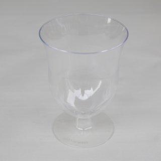 プラスティック 足つきグラス 2個セット