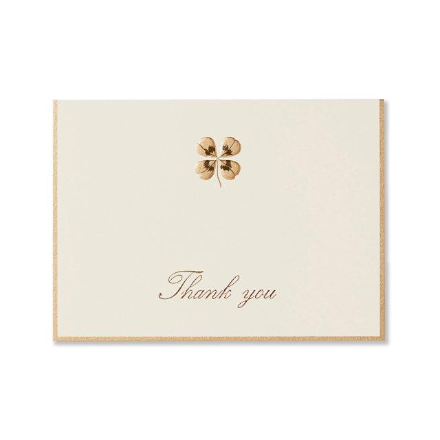 カード 四葉のクローバー THANK YOU