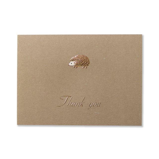 カード ハリネズミ THANK YOU