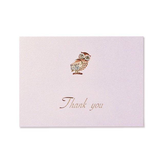 カード ふくろう THANK YOU