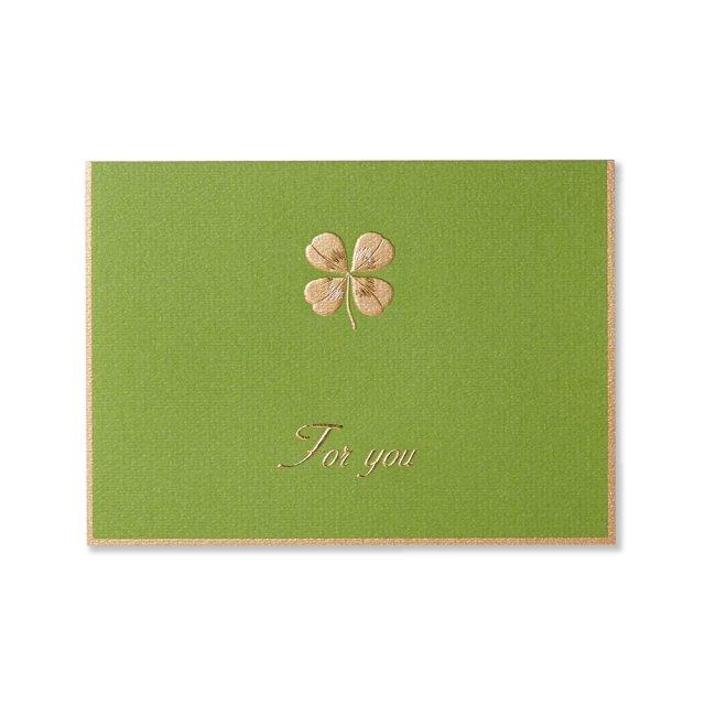 カード 四葉のクローバー グリーン FOR YOU