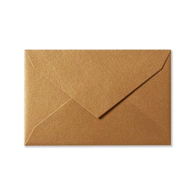 ミニメッセージカード用封筒 アンティークゴールド