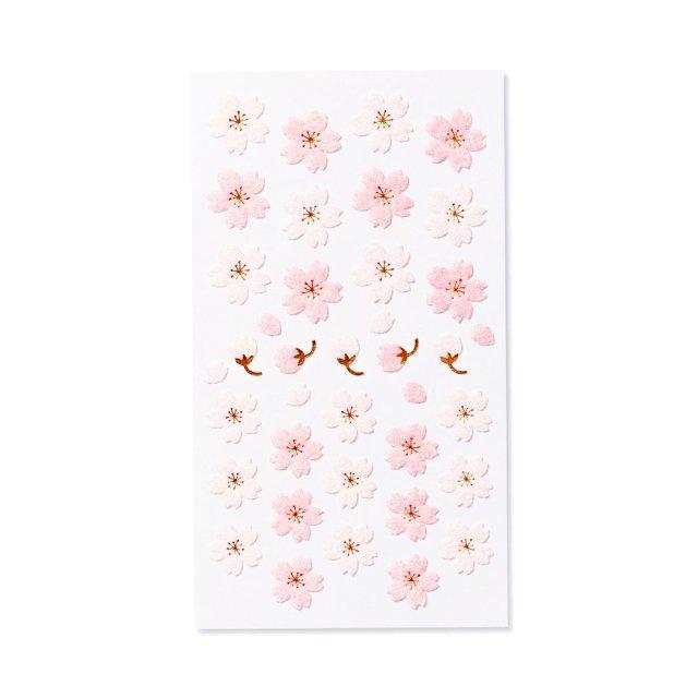 シール ふわふわ 桜