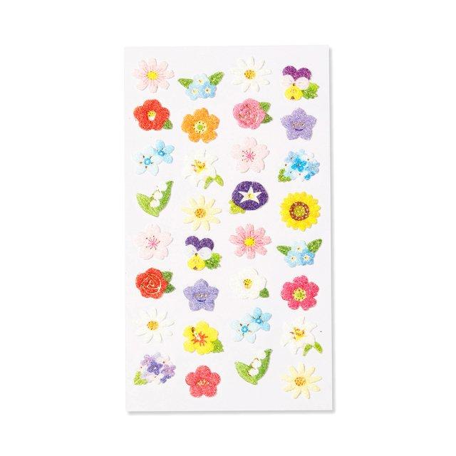 シール ふわふわ 四季の花