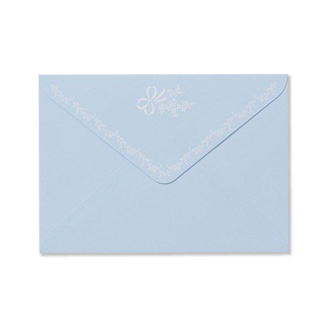 封筒 アンリュバンドゥー ブルー