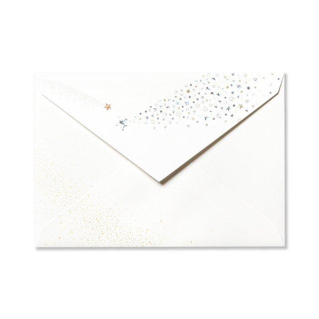 封筒 流れ星