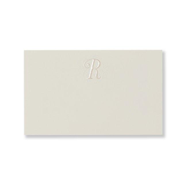 ミニメッセージカード イニシャル R