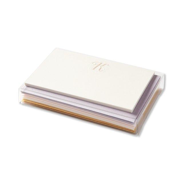 イニシャルカードボックス K