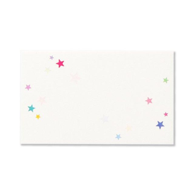 ミニメッセージカード 和紙 星