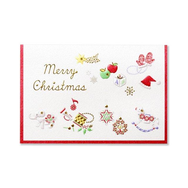 クリスマスミニカード プレジール ドゥ ノエル